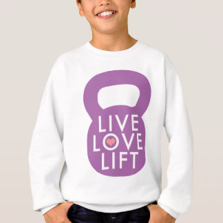 "Lila ""LiveLiebe-Aufzug "" Sweatshirt"