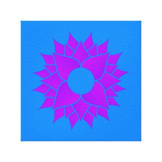 Lila Lotos auf Blau Leinwanddruck