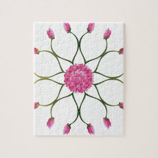 Lila Lotos-Blume Puzzle