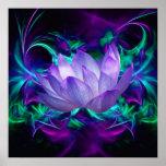 Lila Lotos-Blume und seine Bedeutung