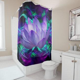 Lila Lotos-Blume und seine Bedeutung Duschvorhang