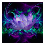 Lila Lotos-Blume und seine Bedeutung Plakatdruck