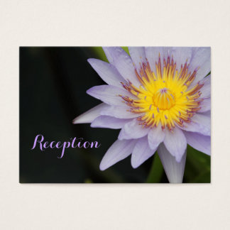 Lila Lotos-Blumen-Hochzeits-Empfangs-Karten Visitenkarte