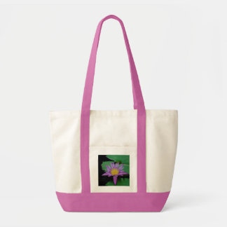 Lila Lotos-Blumen-u. Lilien-Auflage-Taschen-Tasche Impulse Stoffbeutel