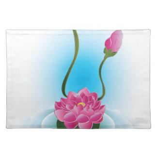 Lila Lotos Flower2 Stofftischset
