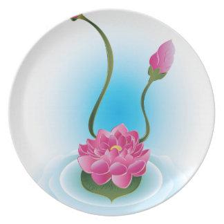 Lila Lotos Flower2 Teller