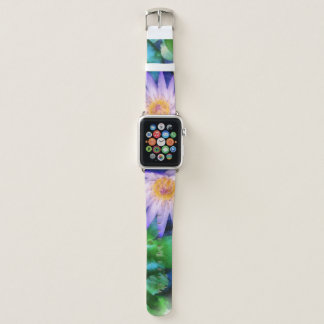 Lila LotosWatercolor Apple Watch Armband