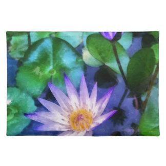Lila LotosWatercolor Tischset