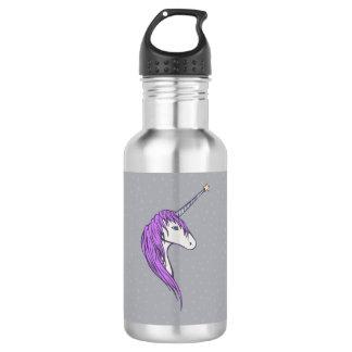 Lila Mähneweißer Unicorn mit Stern-Horn Trinkflasche