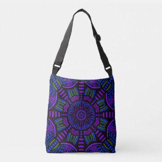Lila Mandala verziert Ihre Tasche