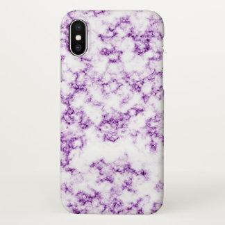 Lila Marmor iPhone X Hülle