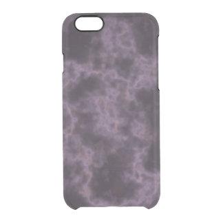 Lila Marmorbeschaffenheit Durchsichtige iPhone 6/6S Hülle