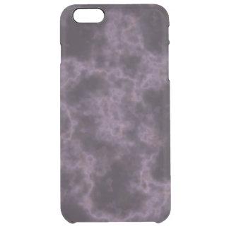 Lila Marmorbeschaffenheit Durchsichtige iPhone 6 Plus Hülle