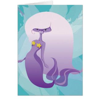 Lila Meerjungfrau Grußkarte
