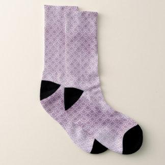 Lila Meerjungfrau-schuppige Socken