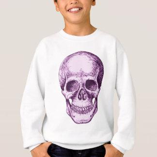 Lila menschlicher Schädel Sweatshirt