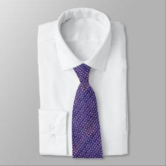 Lila Metallkettenhemd metallische mittelalterliche Krawatte