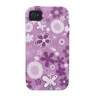 Lila MischBlumen Vibe iPhone 4 Cover