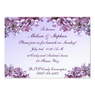 Lila mit BlumenBlumen, die Brunch Wedding sind 12,7 X 17,8 Cm Einladungskarte