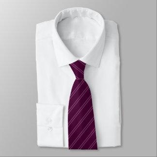 Lila mit doppeltem Button Stripes Krawatte