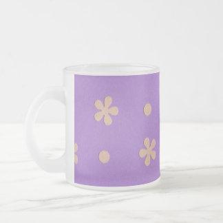 Lila mit gelben Blumen und Punkt-Entwurf Mattglastasse