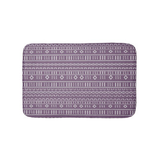 Lila modernes Mudcloth Muster Badematte