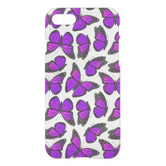 Lila Monarch-Schmetterlings-Muster iPhone 8/7 Hülle