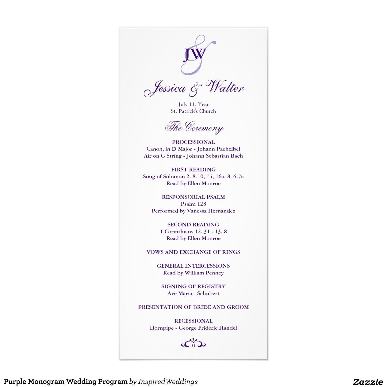 Hochzeits-Programm Text
