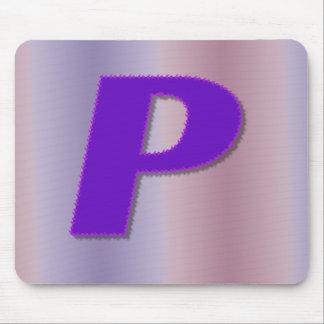 Lila Monogramm P Mousepads