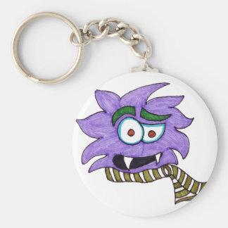 Lila Monster Schlüsselanhänger