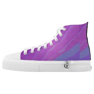 Lila Mosaik Hoch-geschnittene Sneaker