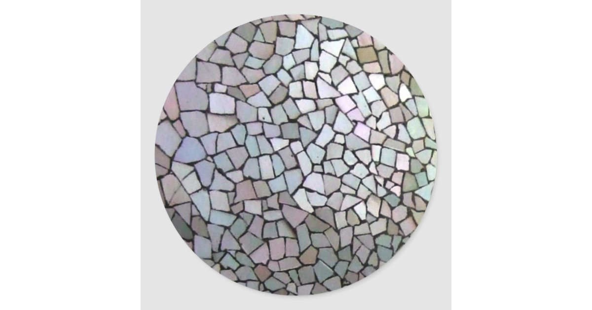 Lila mosaik muster runder aufkleber zazzle for Mosaik aufkleber