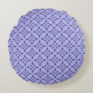 Lila Mosaik-Muster Rundes Kissen