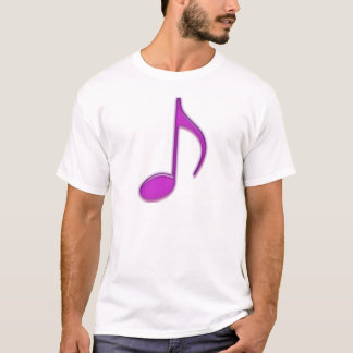 Lila musikalische Anmerkung T-Shirt