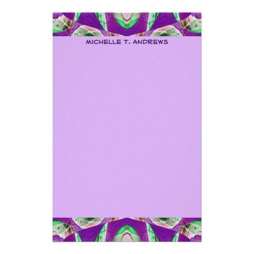 lila Muster Personalisierte Druckpapiere