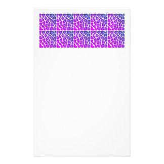 Lila Muster Personalisiertes Büropapier