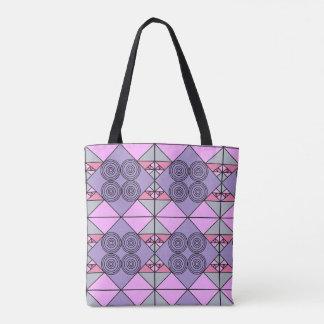Lila Musterentwurf Tasche