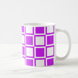 Lila mutige Mod-Quadrate Kaffeetasse