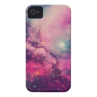 Lila Nachglut-Galaxie iPhone 4 Hüllen