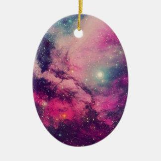 Lila Nachglut-Galaxie Keramik Ornament