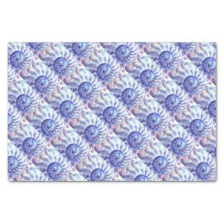 Lila Nautilus-Kunst Seidenpapier