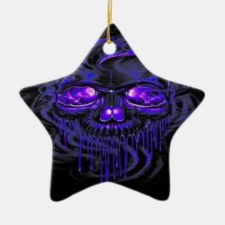 Lila Nerpul Skelette Keramik Ornament