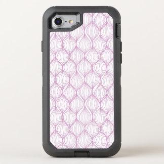 Lila ogee stripes Musterhintergrund OtterBox Defender iPhone 8/7 Hülle