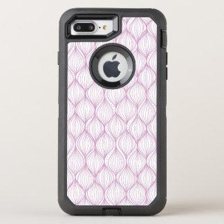 Lila ogee stripes Musterhintergrund OtterBox Defender iPhone 8 Plus/7 Plus Hülle