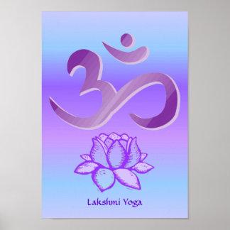 Lila OM- und Lotosdruck Poster