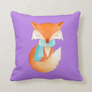 Lila orange Mädchen fox Jungskunst-Kissenkissen Zierkissen