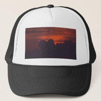 Lila orange Sonnenuntergangwolken Truckerkappe