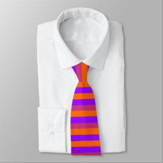 Lila, orange und rosa Streifen Bedruckte Krawatten