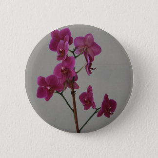 Lila Orchidee Runder Button 5,7 Cm