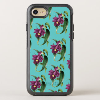 Lila Orchideen-aquamarines Muster OtterBox Symmetry iPhone 8/7 Hülle